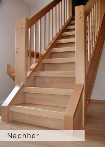 treppen renova k nig treppenrenovierung holz. Black Bedroom Furniture Sets. Home Design Ideas